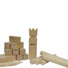 Kubb Viking Original rubberhout colourbox