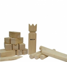 Kubb Pro Original rubberhout in colourbox